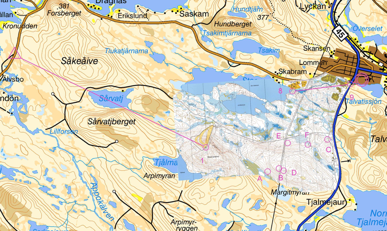 Jokkmokk Arctic Circle Man St Day February Th - Jokkmokk sweden map