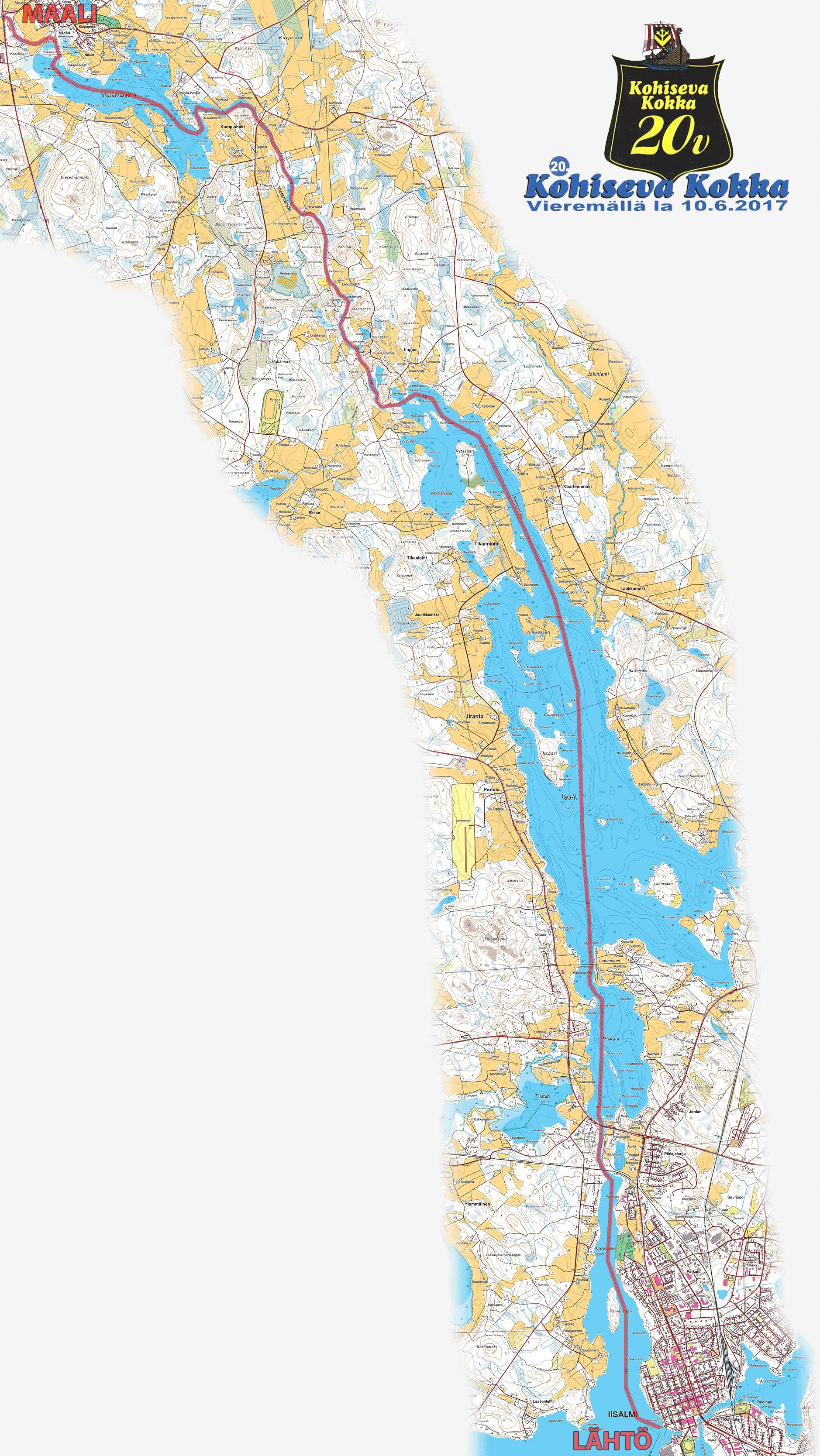 Kohiseva Kokka 2017 kirkkovenesoutu June 10th 2017 Orienteering